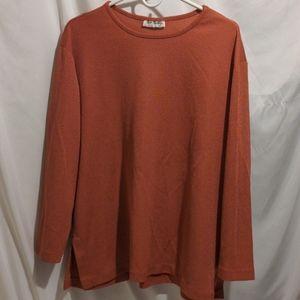 Women's Two Twenty orange long sleeve blouse